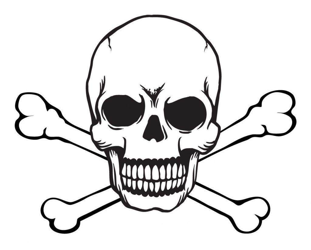 Skull Stencils Free Printable | Skull And Crossbones Free With Skull - Skull Stencils Free Printable