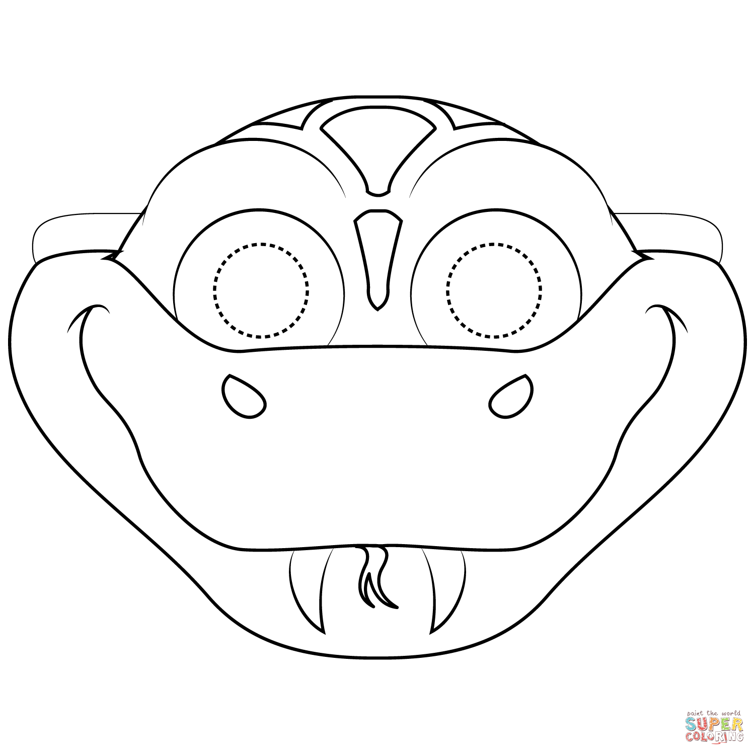 Snake Mask Coloring Page | Free Printable Coloring Pages - Free Printable Lizard Mask