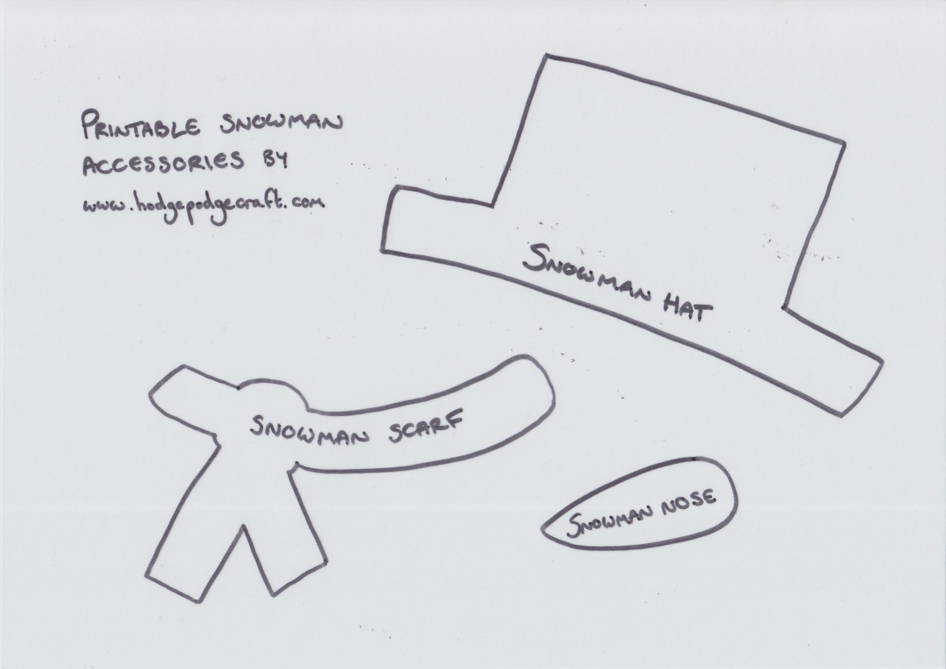 Snowman Hat Printable Mini Snowman Hat Template Printable Snowman - Free Printable Snowman Hat Templates