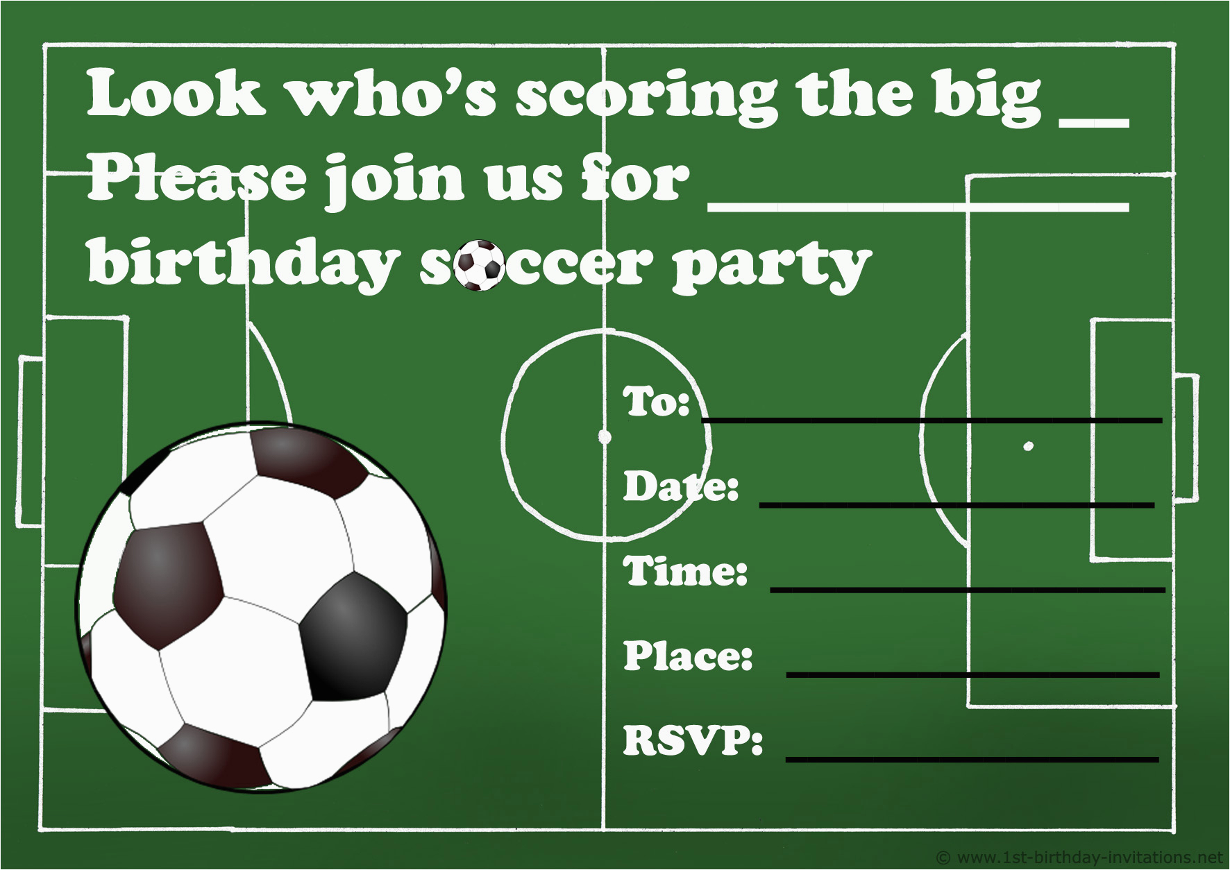 Soccer Invitations For Birthday Party | Birthdaybuzz - Free Printable Soccer Birthday Invitations