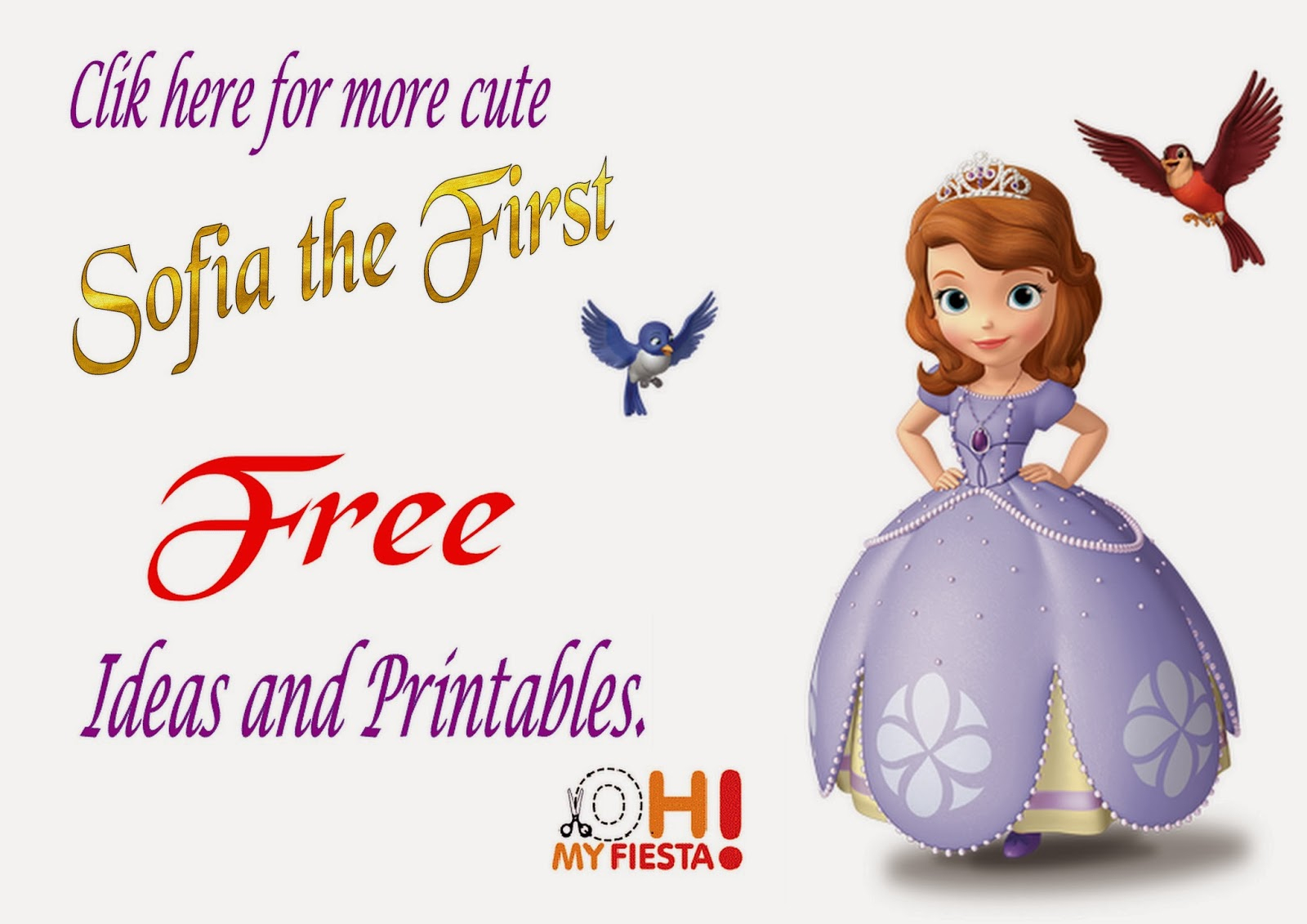 Sofia The First Birthday Free Printable Cake Toppers. | Oh My Fiesta - Sofia The First Cupcake Toppers Free Printable