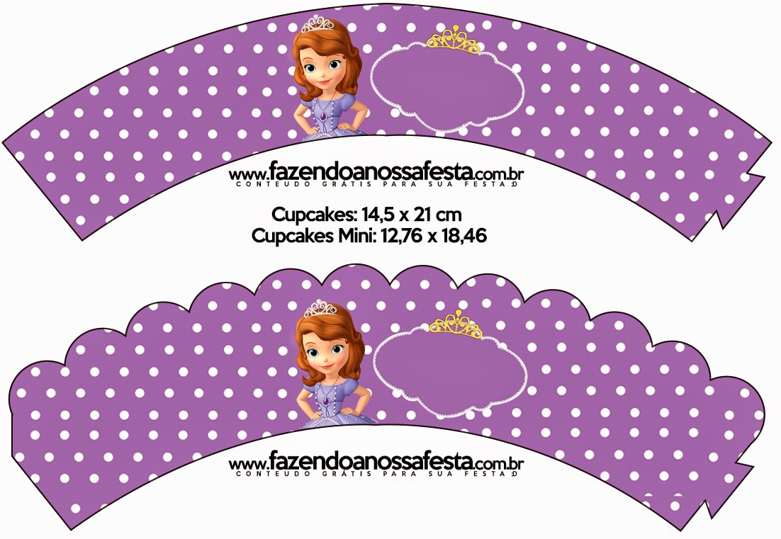 Sofia The First: Free Party Printables And Images. | Oh My Fiesta - Free Printable Sofia Cupcake Toppers