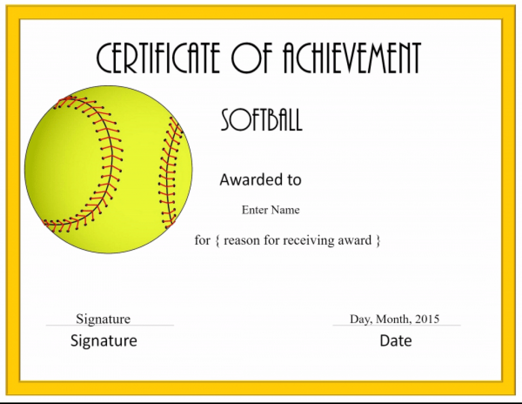 Softball Awards Certificate Template Archives - Southbay Robot With - Free Printable Softball Award Certificates