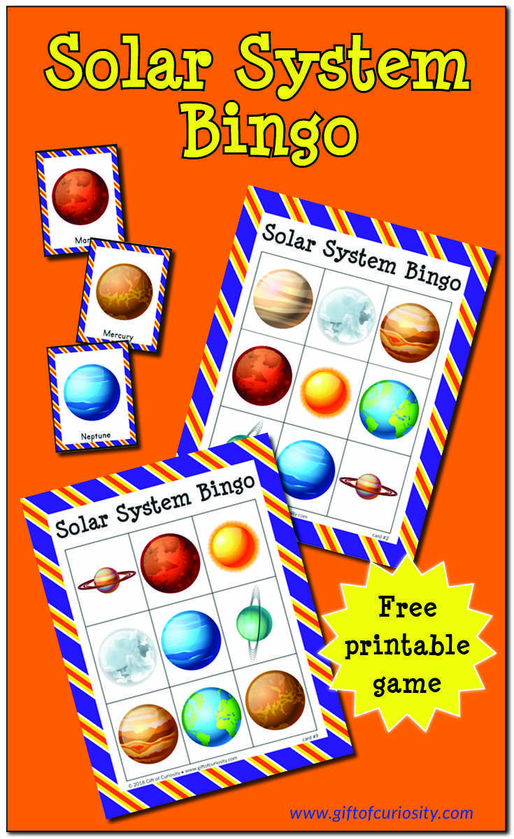 Solar System Bingo | Preschool Teaching Resources And Activities - Free Printable Preschool Teacher Resources