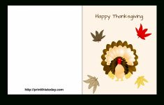 """Special """"happy Thanksgiving Cards"""" Printable For Parents & Friends – Free Printable Thanksgiving Cards"""