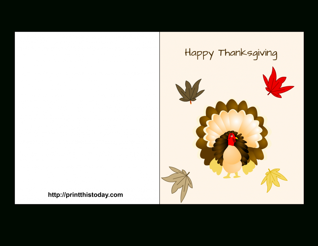 "Special ""happy Thanksgiving Cards"" Printable For Parents & Friends - Happy Thanksgiving Cards Free Printable"