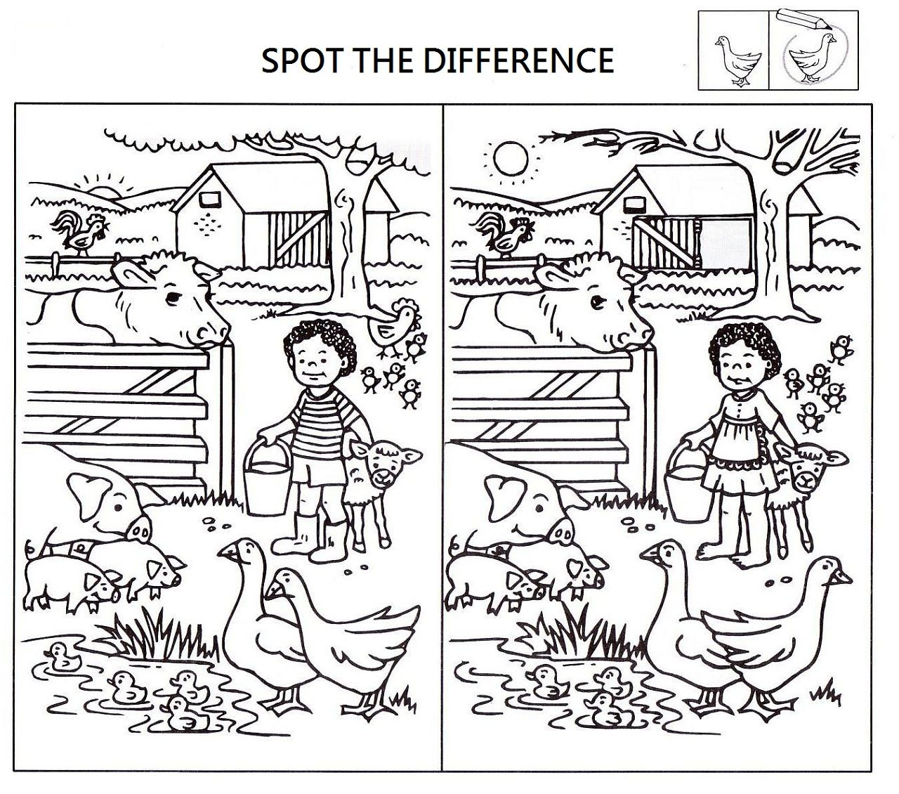 Spot The Difference Worksheets For Kids   Kids Worksheets Printable - Free Printable Spot The Difference Worksheets
