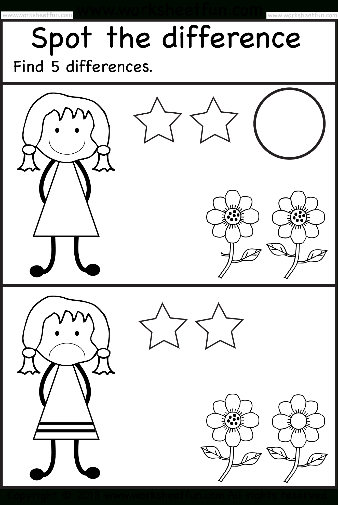 Spot The Differences | Pre K Activities | Pinterest | Worksheets For - Free Printable Spot The Difference For Kids
