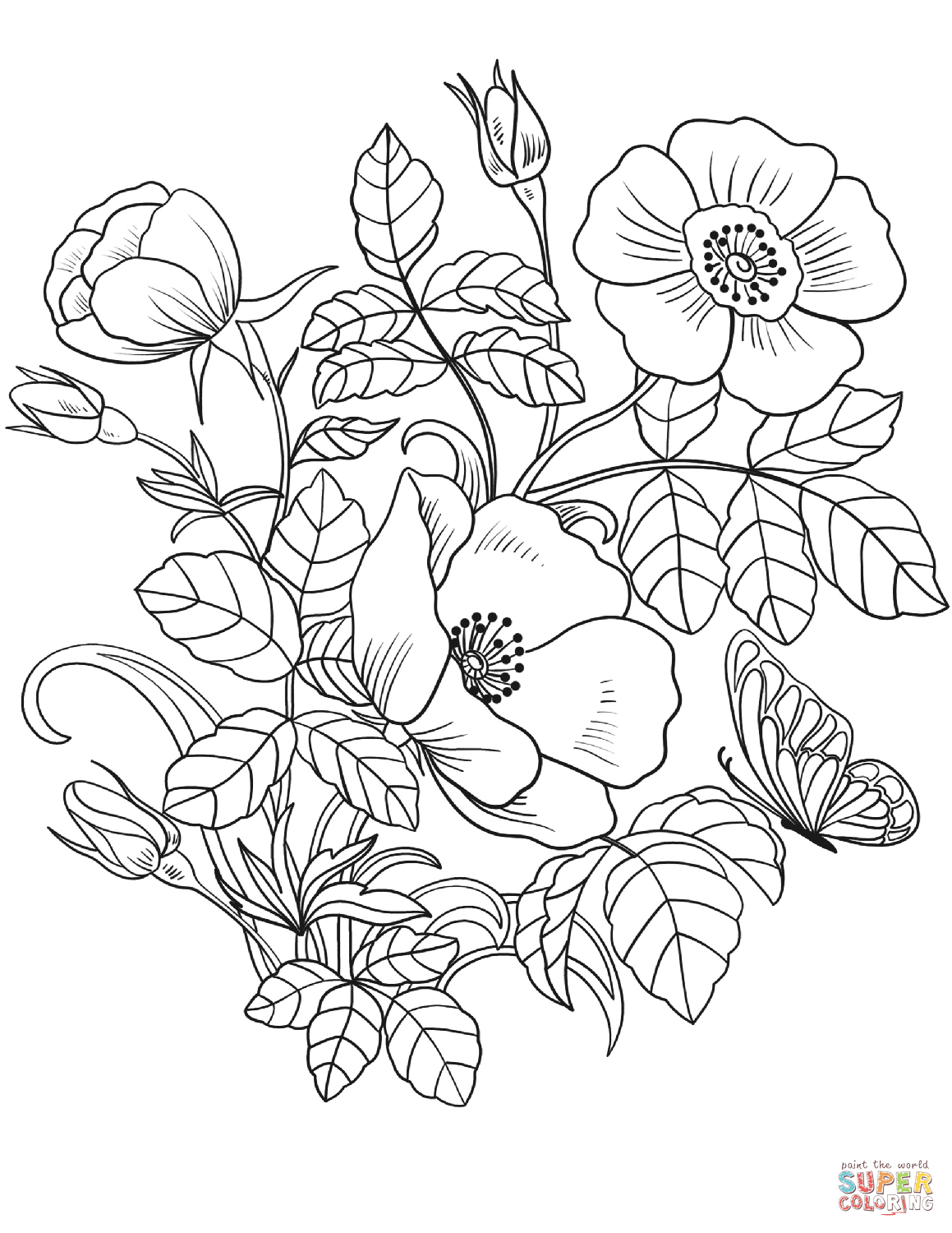 Spring Flowers Coloring Page | Free Printable Coloring Pages - Free Printable Spring Pictures To Color