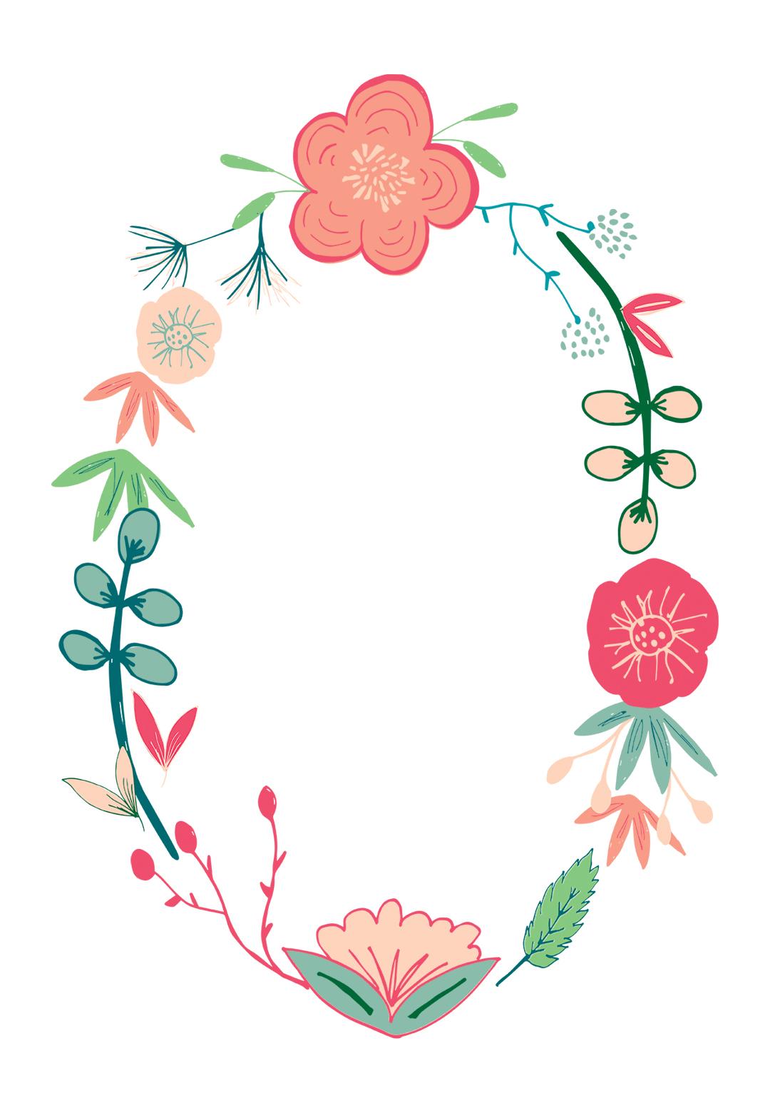Spring Flowers - Free Printable Birthday Invitation Template - Free Printable Invitations Templates
