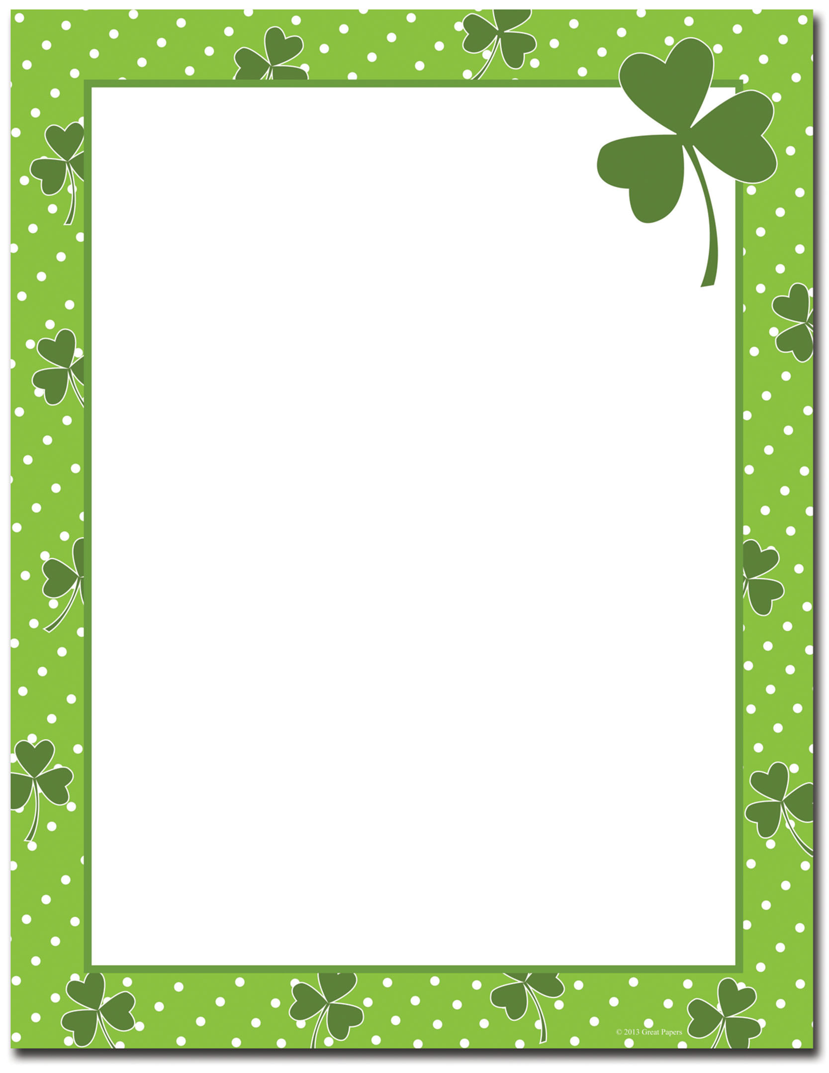 St Patricks Day Clipart Border Collection - Free Printable St Patricks Day Stationery