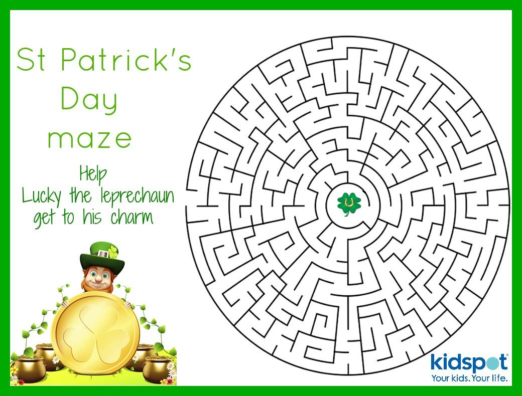 St Patrick's Day - Mazes - Free Printable - Free Printable St Patrick's Day Mazes