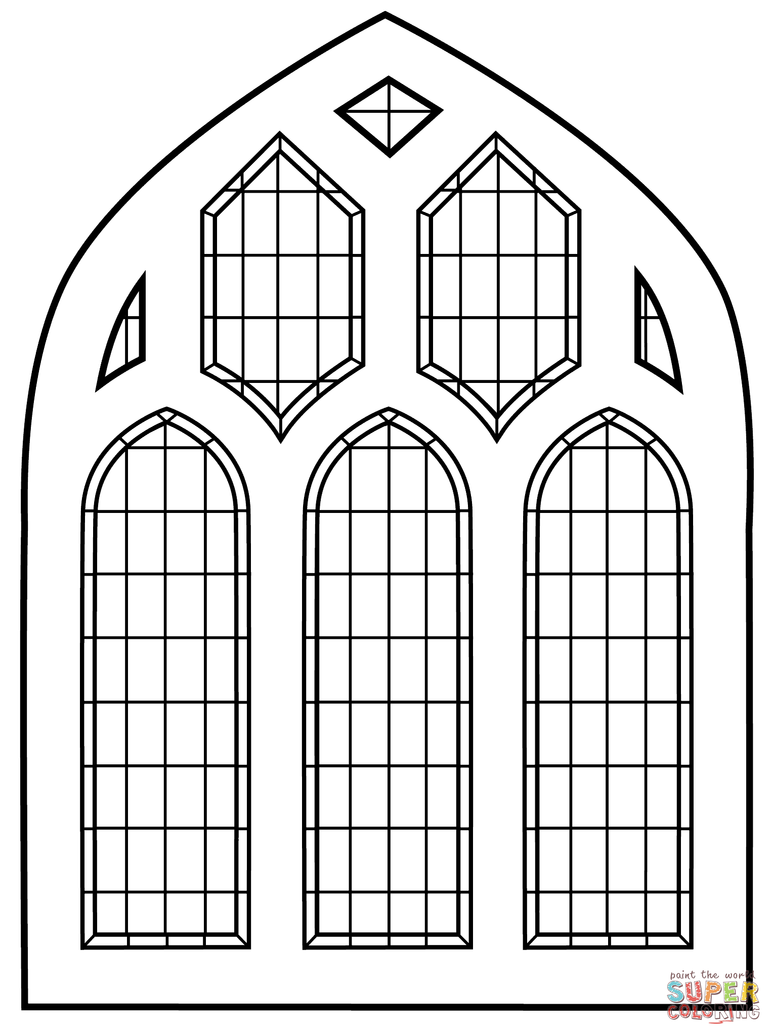 Stained Glass Coloring Pages | Free Coloring Pages - Free Printable Religious Stained Glass Patterns