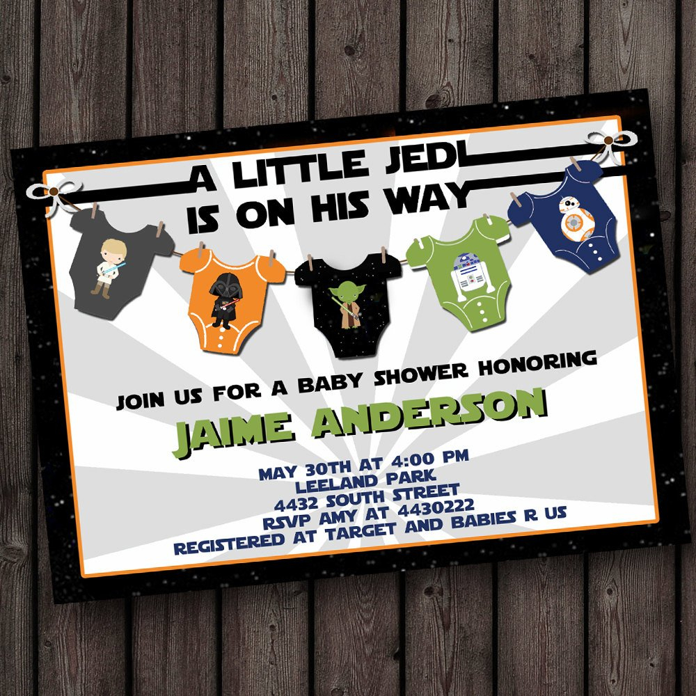 Starwars Baby Shower Invitation Star Wars Baby Shower | Etsy - Free Printable Star Wars Baby Shower Invites