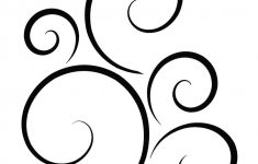 Stencil Swirls Doodles Perfect For Gifts, Furniture, Walls, Fabric – Free Printable Wall Stencils For Painting