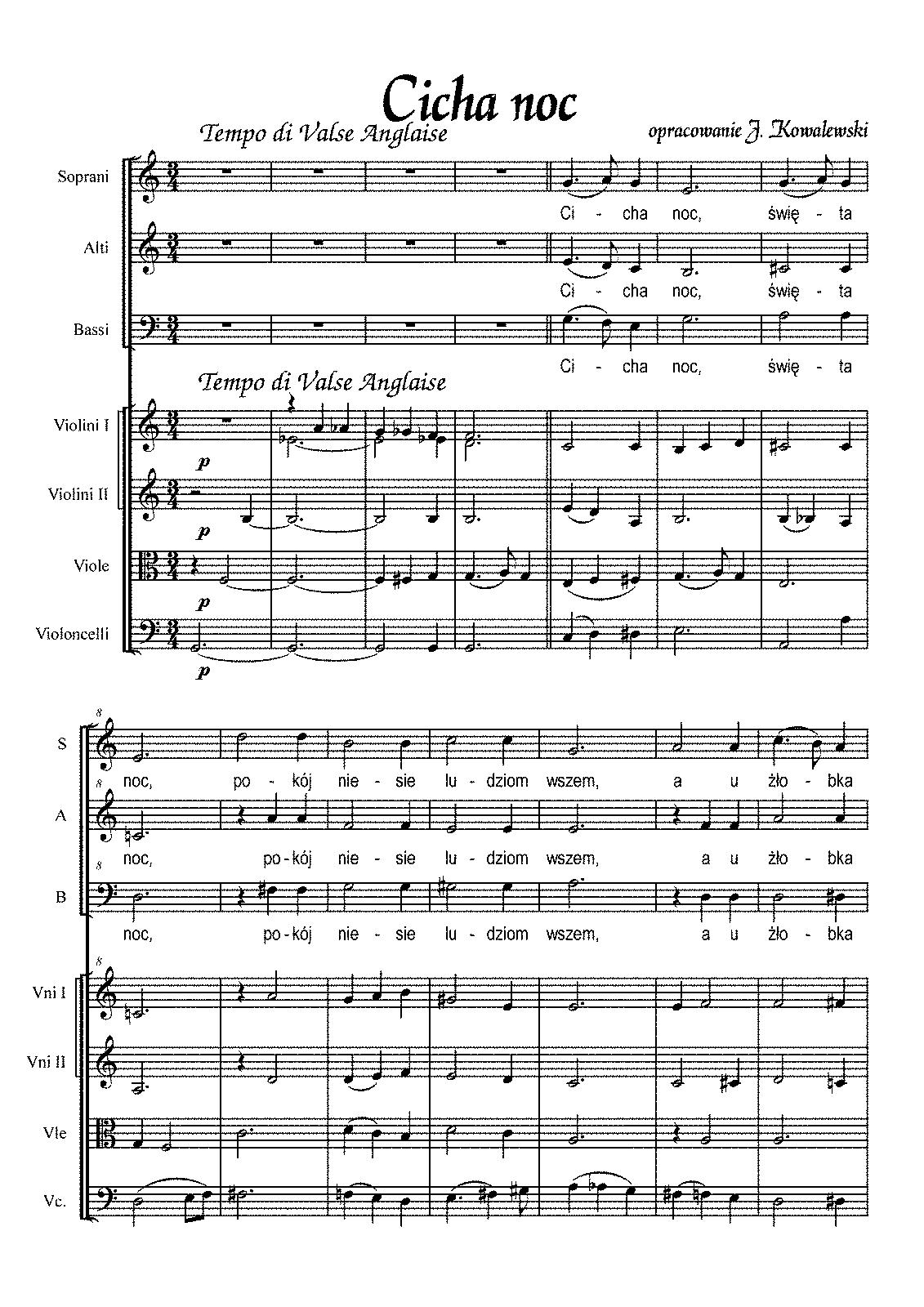 Stille Nacht, Heilige Nacht, H.145 (Gruber, Franz Xaver) - Imslp - Free Printable Sheet Music For Voice And Piano