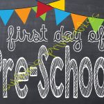 Sublime Printables: First Day Of School Printable   My First Day Of Kindergarten Free Printable
