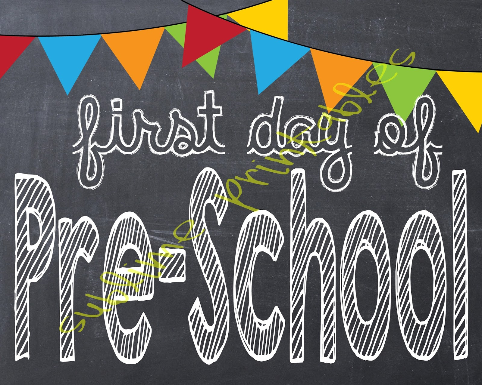 Sublime Printables: First Day Of School Printable - My First Day Of Kindergarten Free Printable