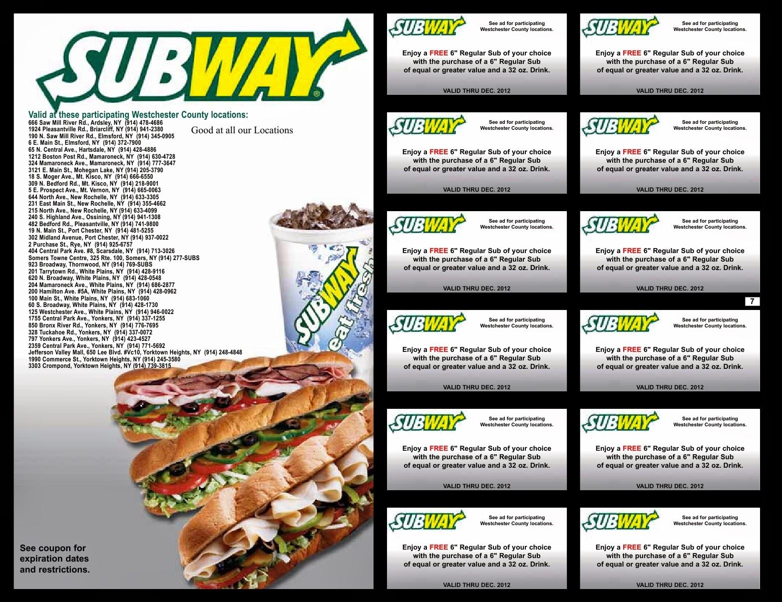 Subway Coupons And Codes Valid New Subway Restaurant (3) - Free Printable Subway Coupons 2017