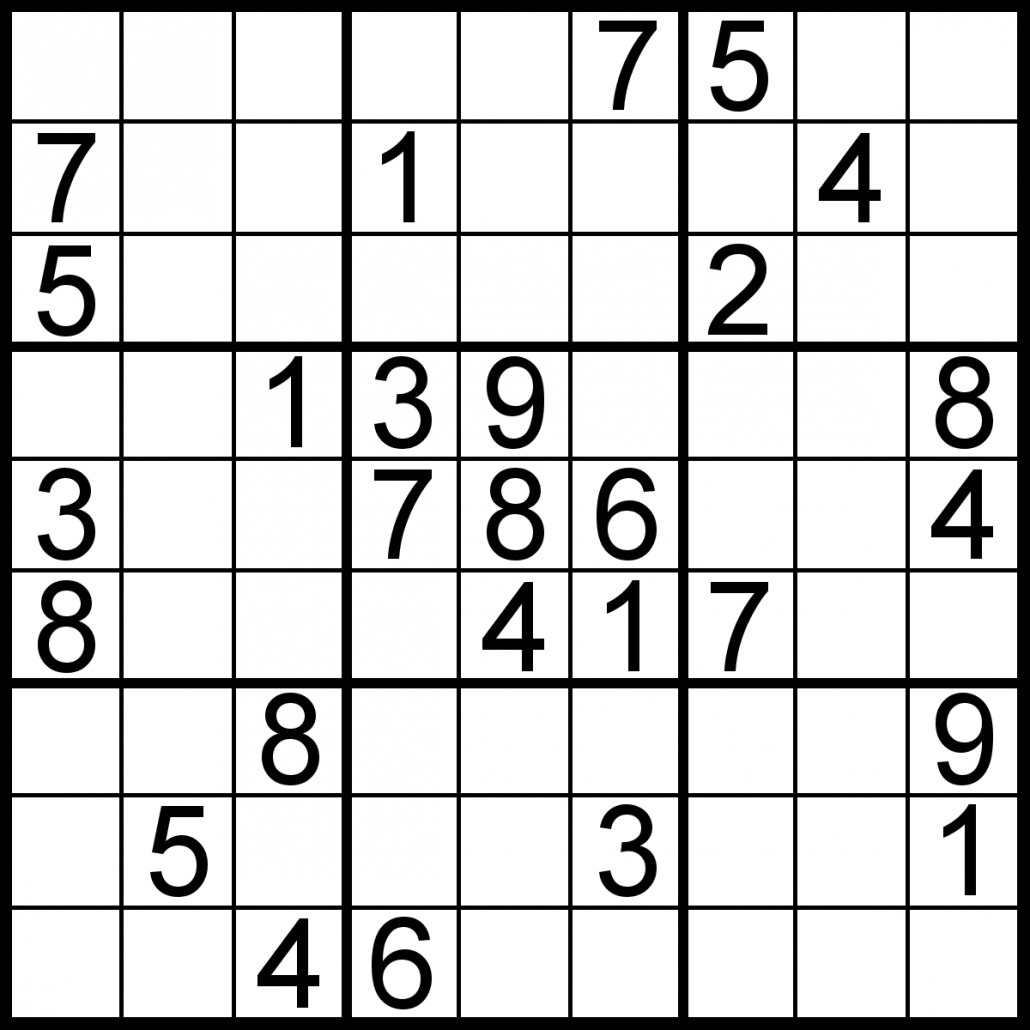 Sudoku Of The Day   Free Sudoku For Your Local Publications! - Download Printable Sudoku Puzzles Free