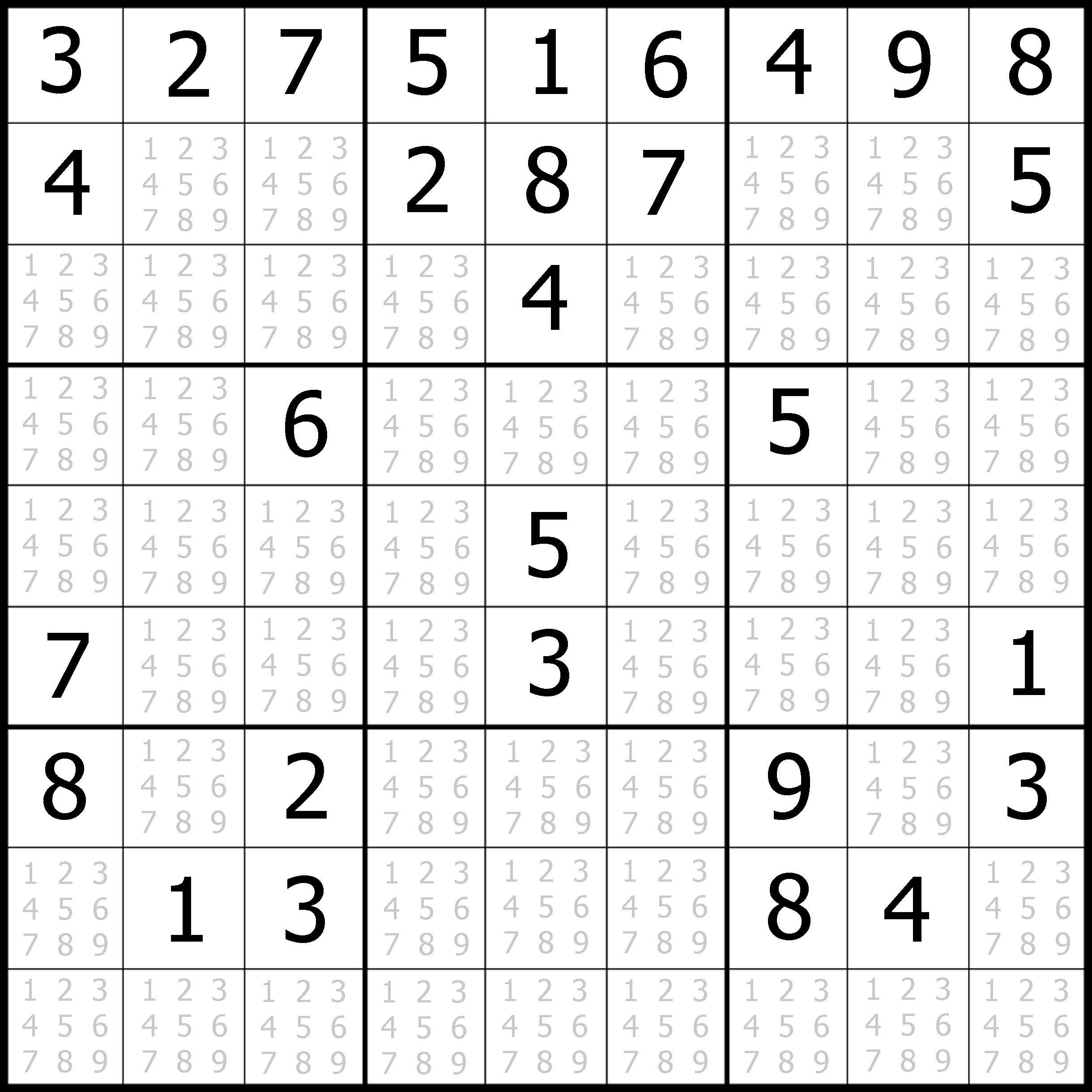 Sudoku Printable   Free, Medium, Printable Sudoku Puzzle #1   My - Free Printable Sudoku Books