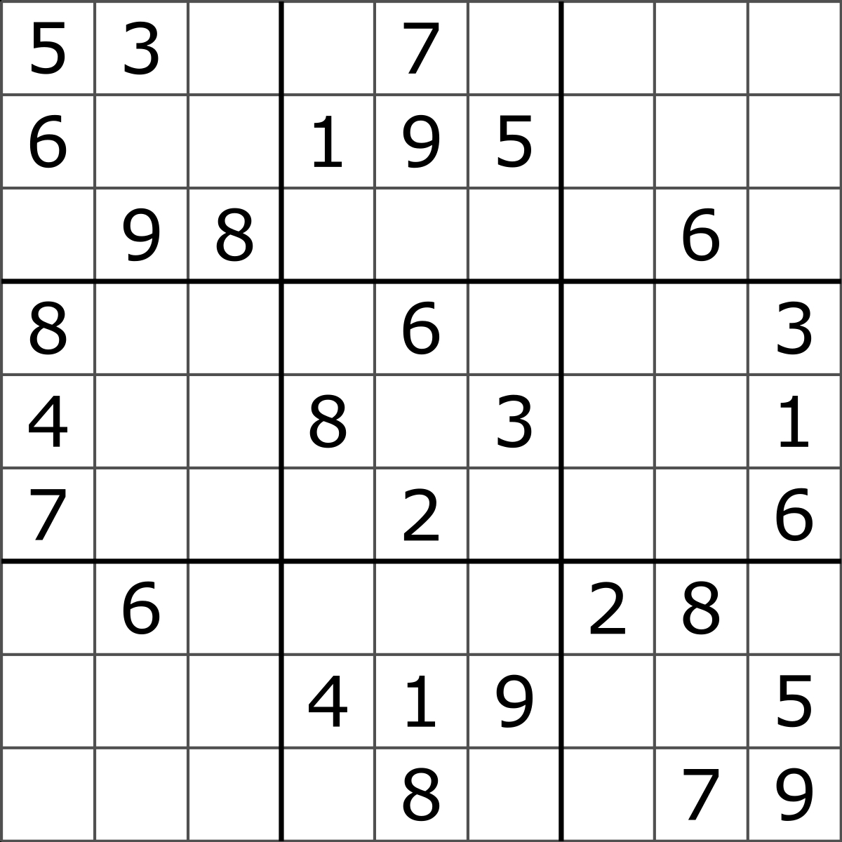 Sudoku - Wikipedia - Free Printable Super Challenger Sudoku
