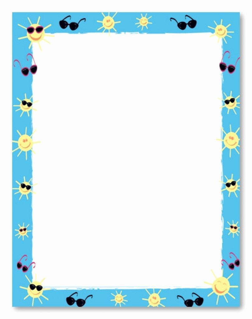 Summer Borders Clip Art - Disqvr - Free Printable Summer Borders