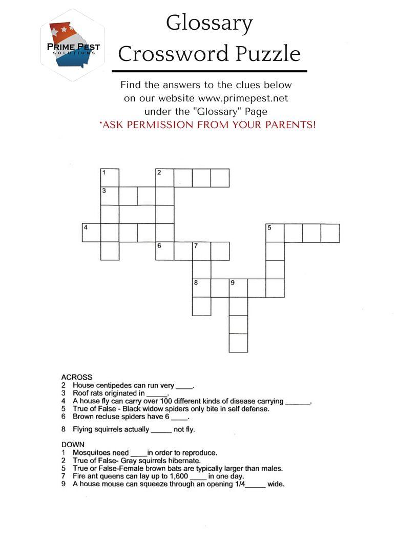 "Summer Crafting With Beth - Week 5 ""crossword Puzzle"" Free Printable - Summer Crossword Puzzle Free Printable"