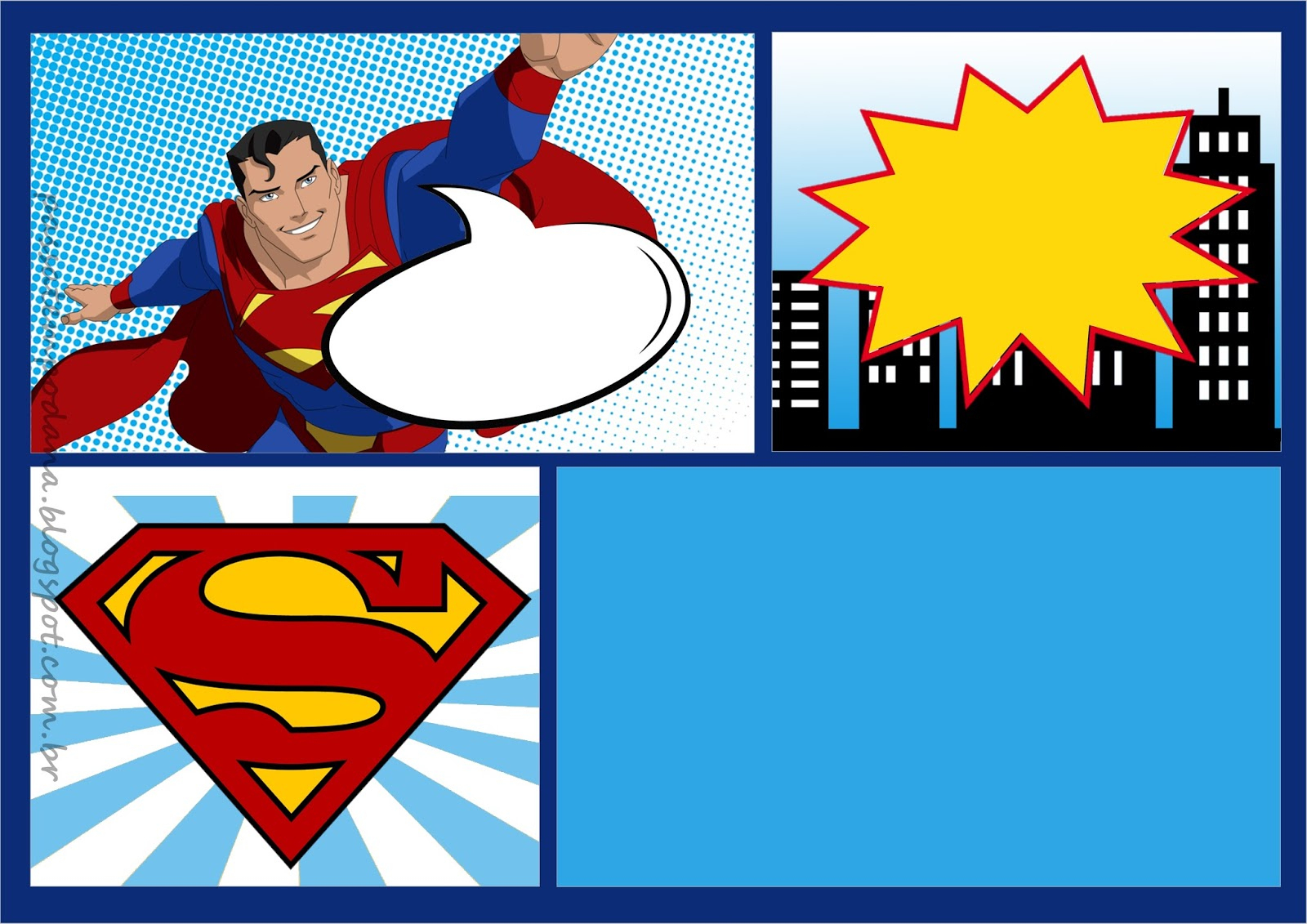 Superman Comic: Free Printable Kit. - Oh My Fiesta! For Geeks - Free Printable Superman Invitations
