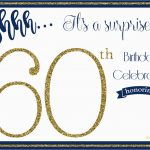 Surprise 60Th Birthday Party Invitations Template | Birthdaybuzz   Free Printable Surprise 60Th Birthday Invitations