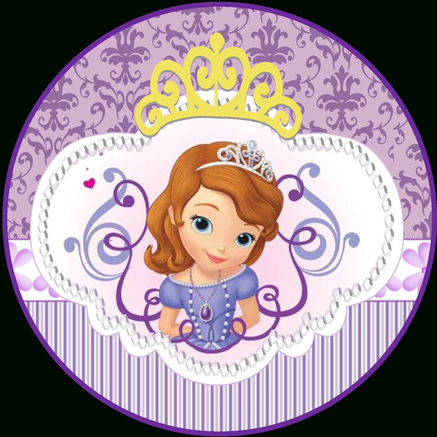 Sweet Sofia The First: Free Printable Invitations And Candy Bar - Free Printable Sofia Cupcake Toppers