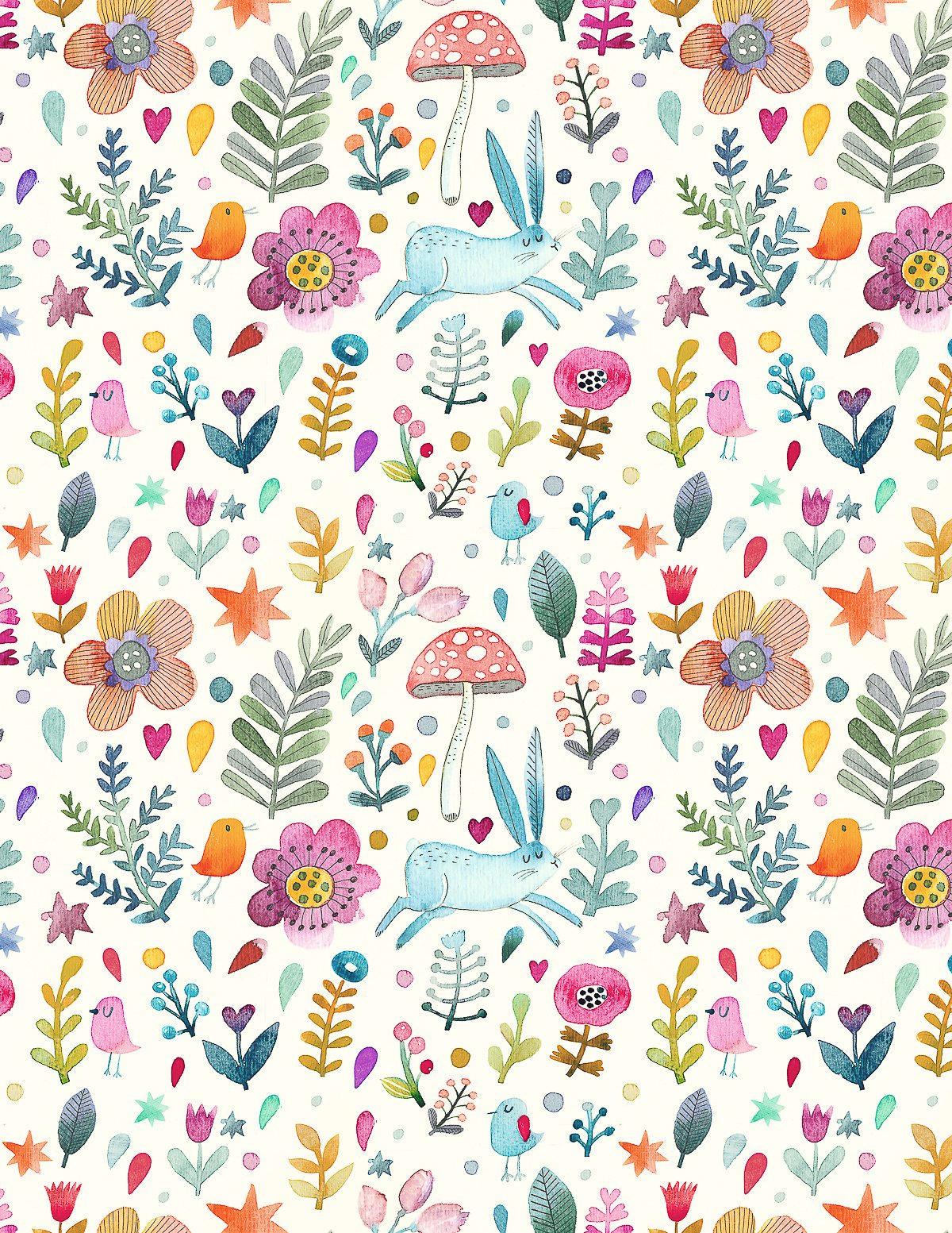 Sweet Watercolor Bunny Gift Wrap - Free Printable - Tinselbox - Free Printable Easter Wrapping Paper
