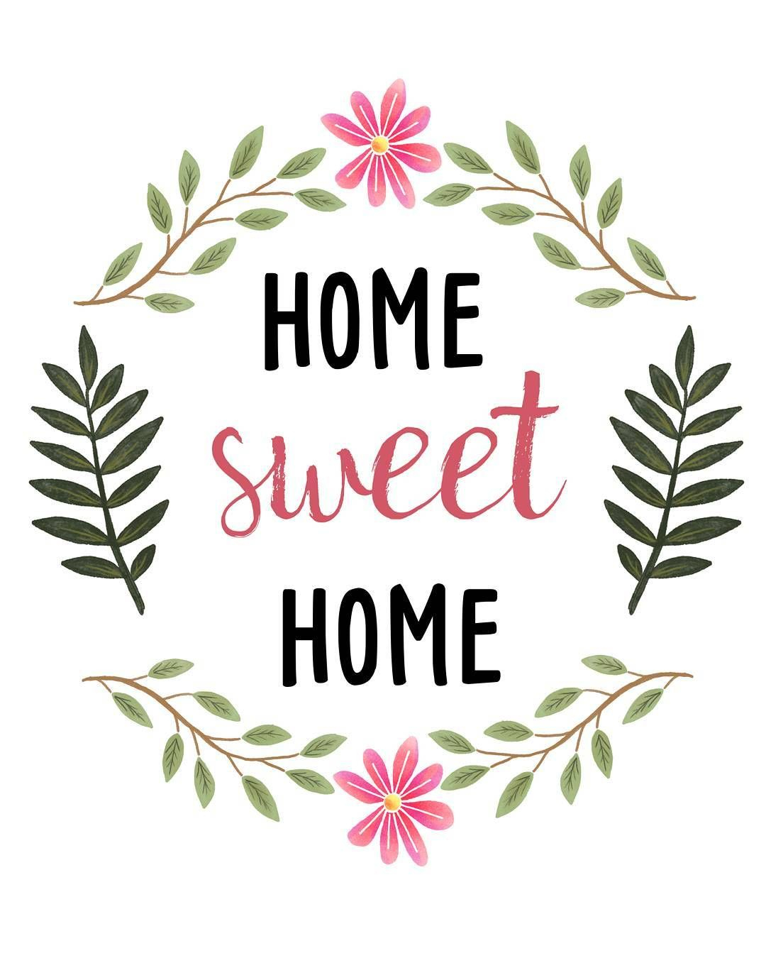 Sweetdailiness: Free Home Sweet Home Printable. Download It At Www - Home Sweet Home Free Printable