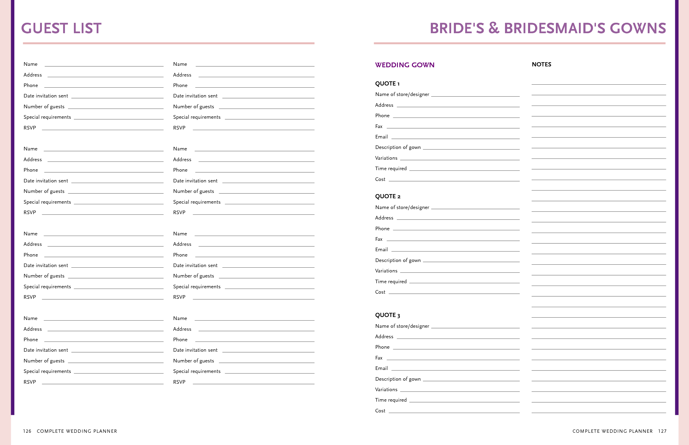 Table Guest List. Autumn Wild Grape Background. Wedding Design - Free Printable Wedding Party List