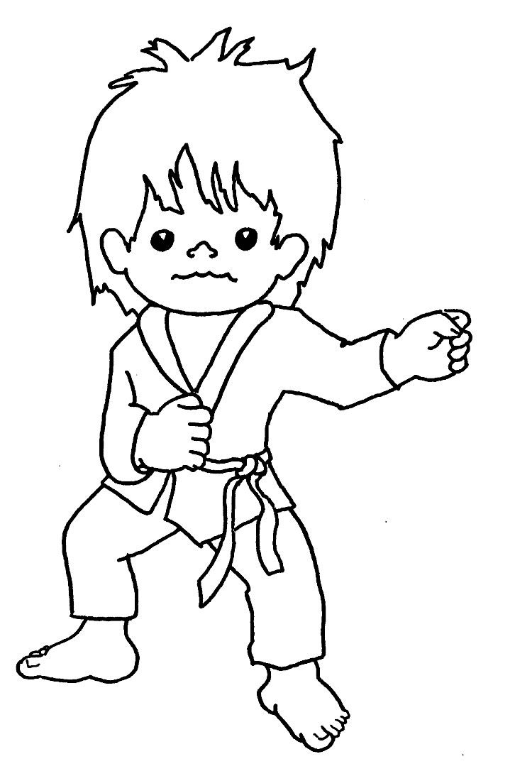 Tai Kwon Do | Tae Kwon Do Colouring Pages | Coloring | Pinterest - Free Printable Karate Coloring Pages
