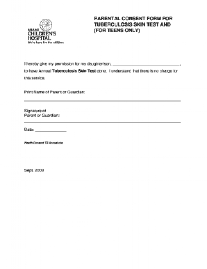 Tb Skin Test Forms - Fill Online, Printable, Fillable, Blank - Free Printable Tb Test Form