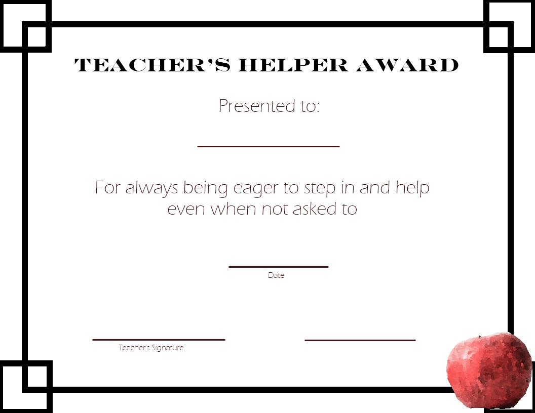 Teacher-School-Printable Student Awards - Free Printable Student Award Certificate Template