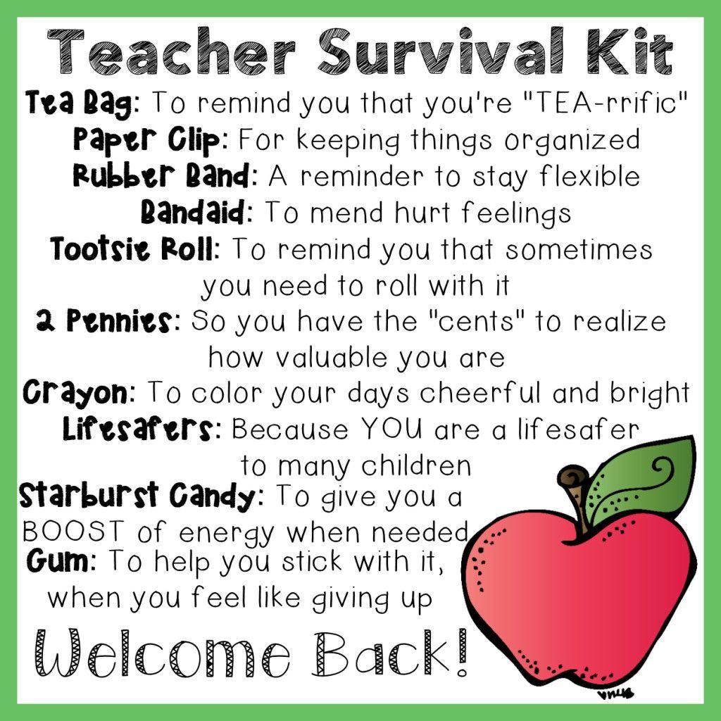 Teacher Survival Kit   Education   Pinterest   Teacher Survival Kits - Teacher Survival Kit Free Printable