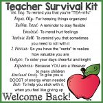 Teacher Survival Kit: How To Make & #free Printable Label   Teacher Survival Kit Free Printable