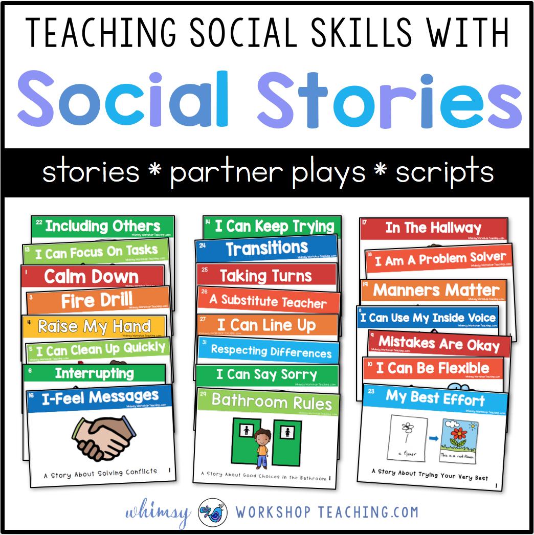 Teaching Social Skills With Social Stories - Whimsy Workshop Teaching - Free Printable Social Stories