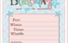 Free Printable Girl Birthday Invitations
