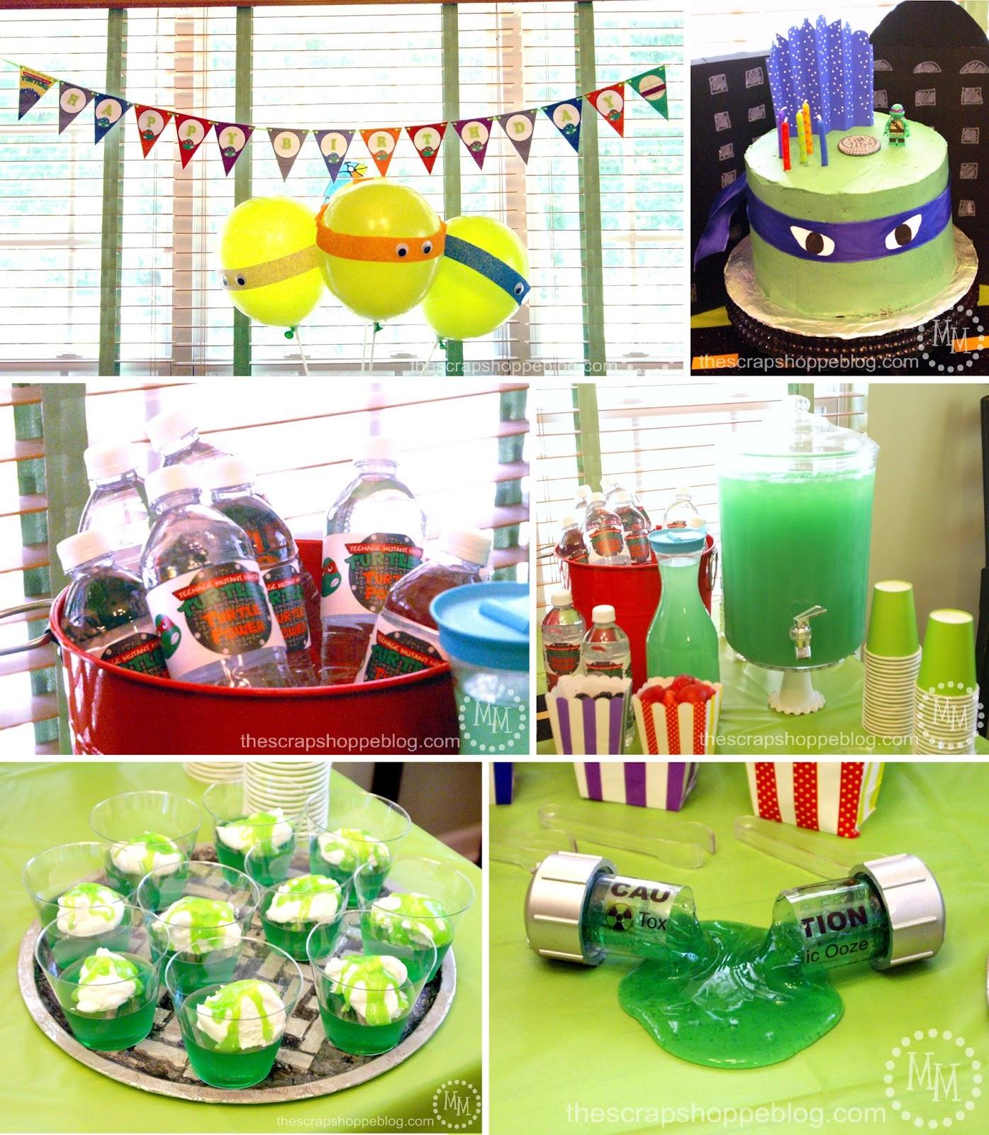 Teenage Mutant Ninja Turtle (Tmnt) Birthday Party - The Scrap Shoppe - Free Printable Teenage Mutant Ninja Turtle Cupcake Toppers