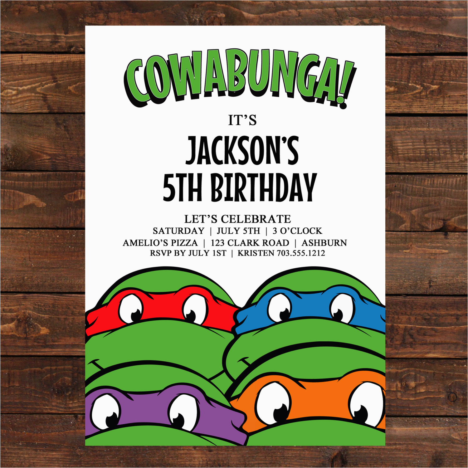 Teenage Mutant Ninja Turtles Birthday Invites | Birthdaybuzz - Free Printable Ninja Turtle Birthday Invitations