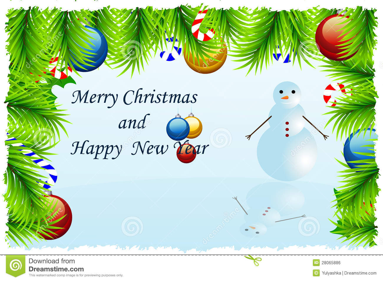 Template Christmas Greeting Card Stock Vector - Illustration Of - Free Printable Xmas Cards Download