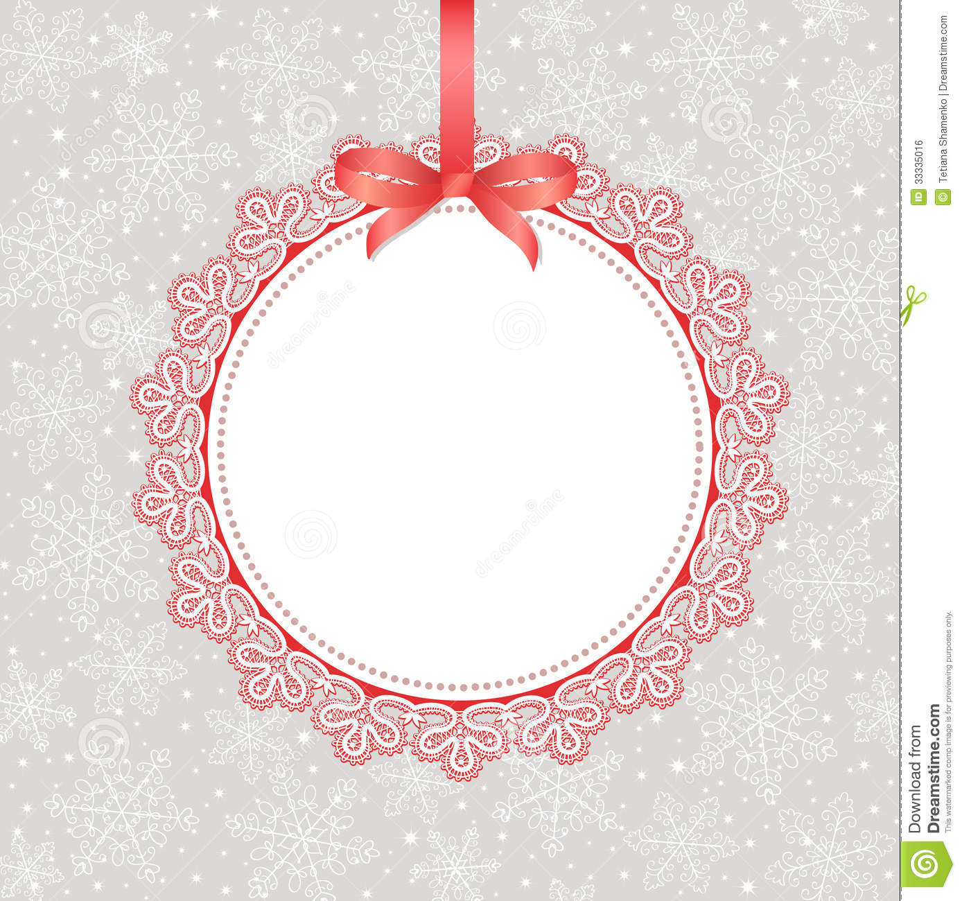 Template Frame Design For Greeting Card Stock Illustration - Free Online Christmas Photo Card Maker Printable