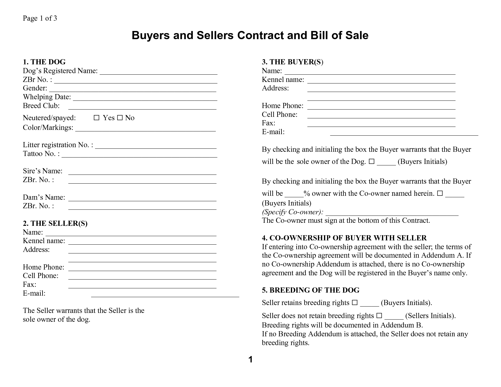 Template: Free Printable Manufactured Mobile Home Bill Of Sale - Free Printable Mobile Home Bill Of Sale