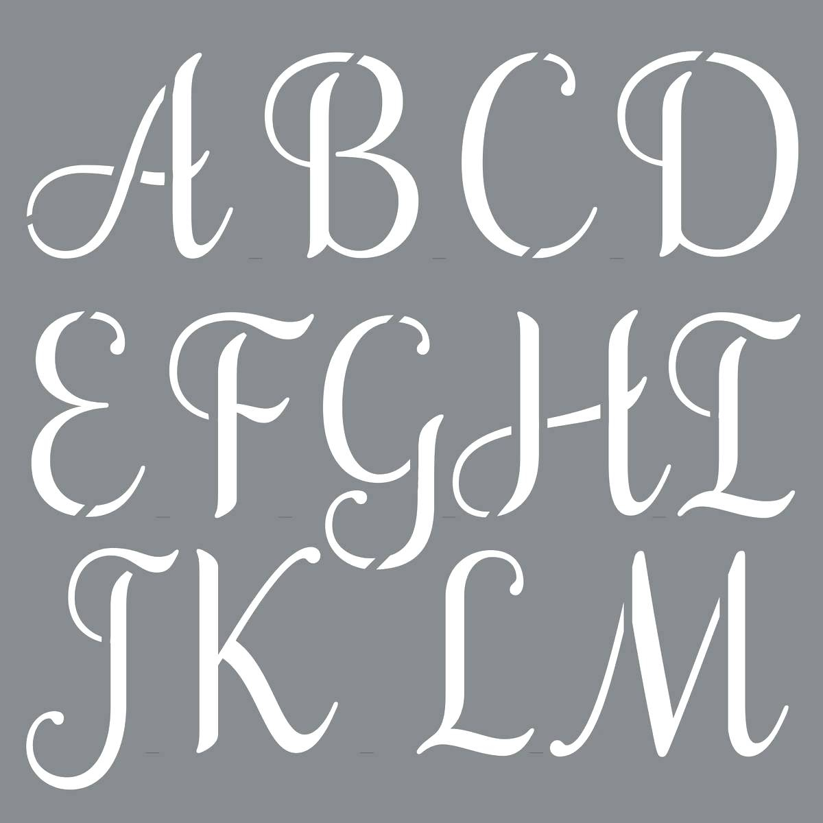 Template Letters Stencil Free Printable Letter Stencils Personally - Free Printable Alphabet Stencils Templates