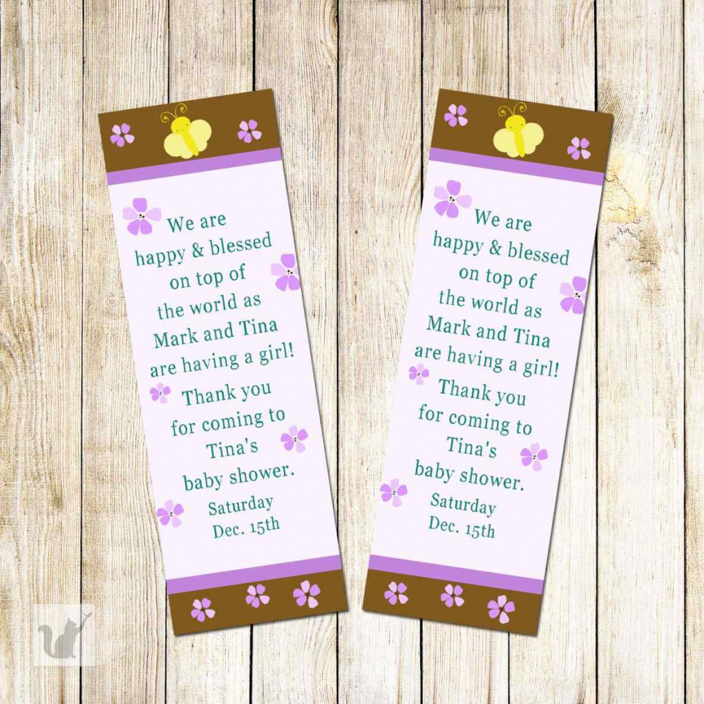 Templates Free Baby Shower Bookmark Printable Baby Shower Favor - Free Printable Baby Bookmarks