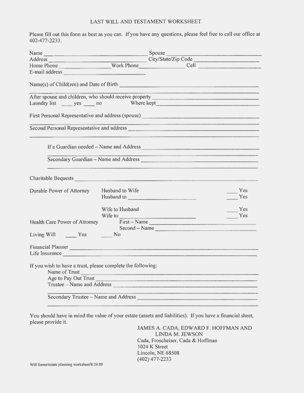 Ten Easy Ways To Facilitate Free Printable | Form Information - Free Printable Will And Trust Forms