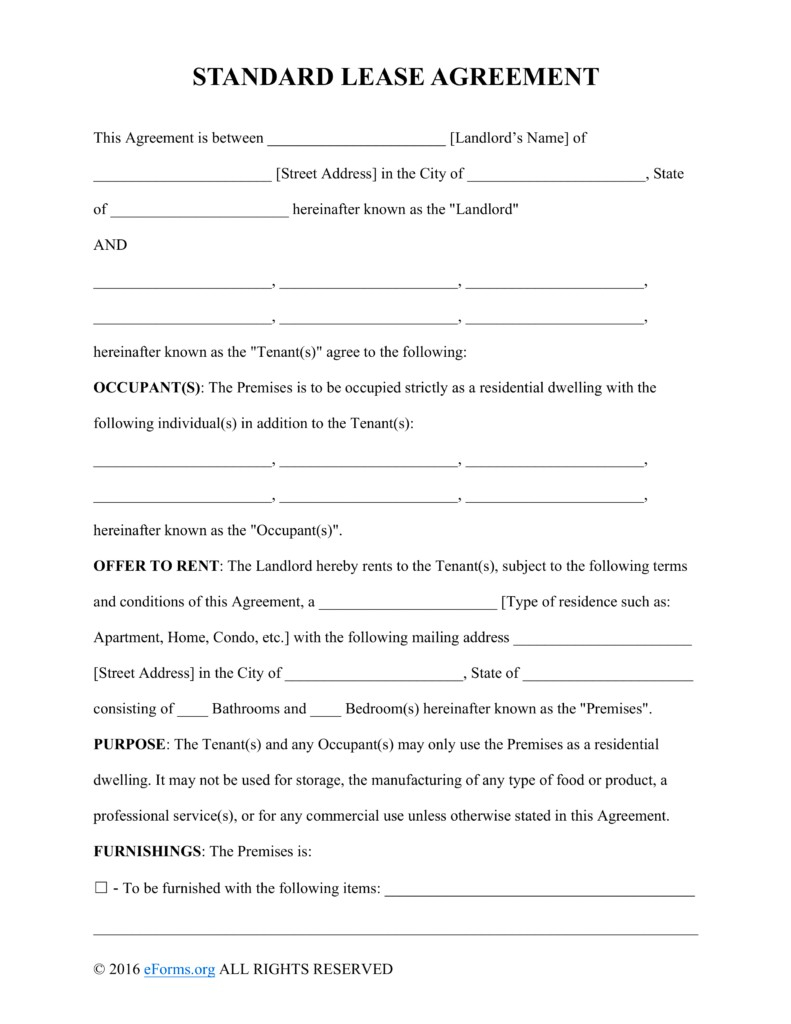 Texas Residential Lease Agreement Word Free Printable Rental Lease - Free Printable Lease Agreement Texas
